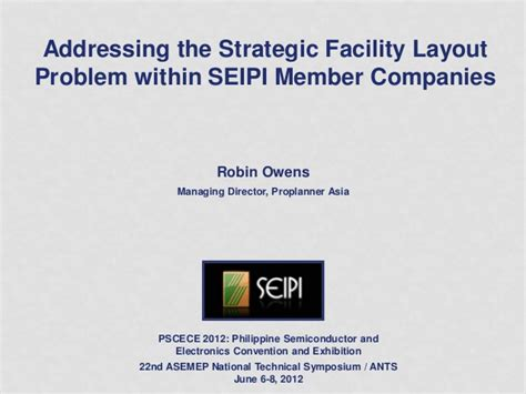 facility layout problem exles the strategic facility layout problem in industry