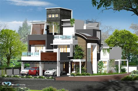 modern style contemporary style elevations kerala model home plans