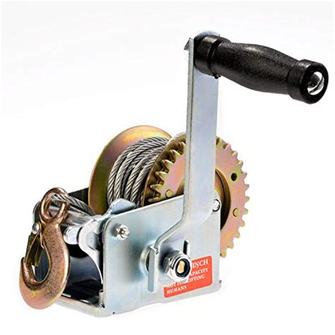 boat winch direction 600lbs boat trailer winch worm gear hand crank with cable