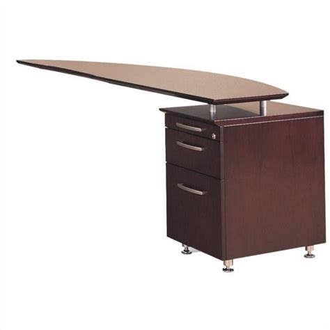 Right Return Desk by Mayline Napoli Curved Desk Right Return In Mahogany 496223
