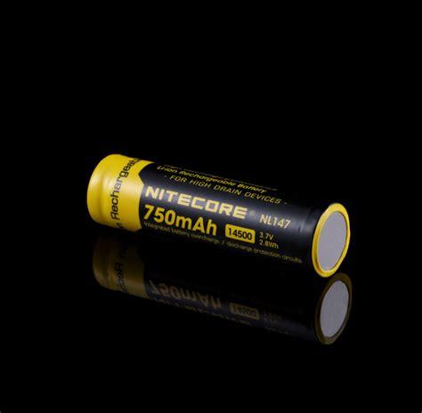 Nitecore 14500 Baterai Li Ion 850mah 3 7v Nl1485 batterie nitecore nl147 14500 750mah li ion prot 233 g 233 e pour le torche mh1a srt3
