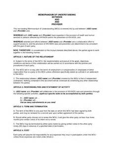 memo of understanding template best photos of mou sle for services sle memorandum