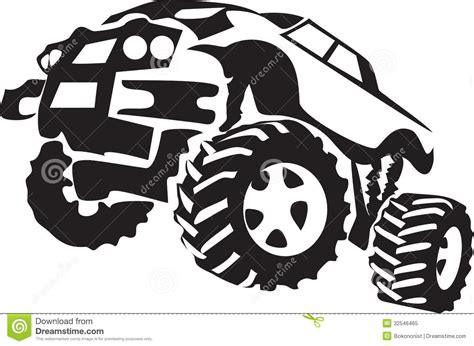 mud truck clip art monster truck clipart black and white clipartxtras