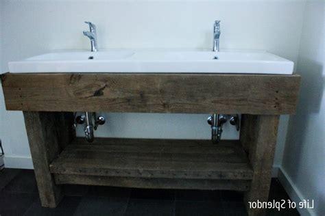 Bathroom Vanity Decorating Ideas rustic bathroom vanity brushed nickel towel ring holder