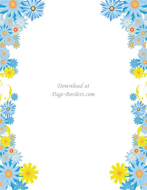clipart borders free flower border template personal commercial use