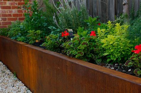 wall gardens melbourne landscape bed edging steel retaining walls melbourne corten retaining walls le