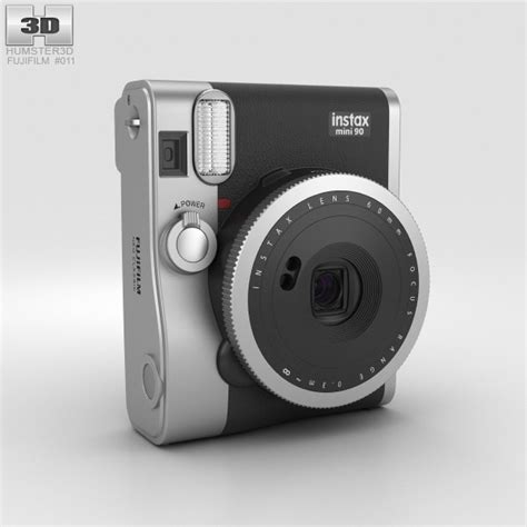 Fujifilm Instax Polaroid Mini 90 Neo Classic Black fujifilm instax mini 90 neo classic black 3d model humster3d