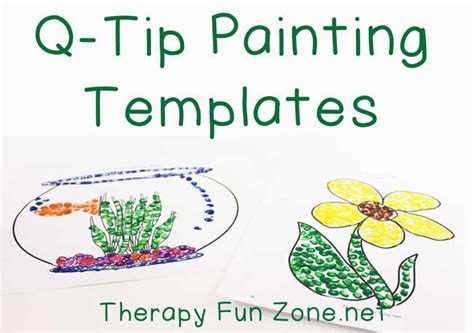 painting templates more q tip painting templates therapy zone
