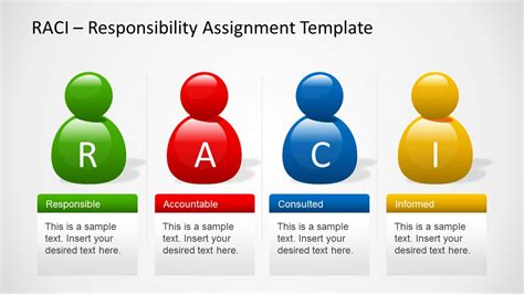 rasci template raci template for powerpoint with avatars slidemodel