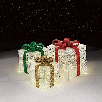 how to make a wire christmas gift box on pinterest 3 light up gift box decorations cheerful ornaments from sears