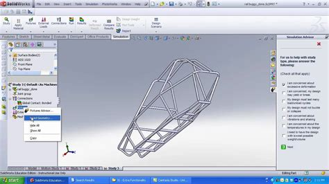 frame design in solidworks analyzing a frame in solidworks simulation youtube
