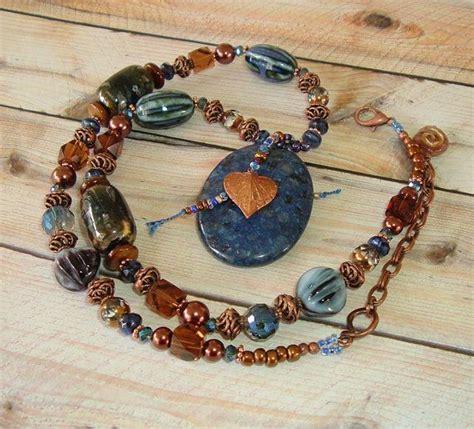 boho necklace southwest jewelry bohemian style rustic earthy gemstones style and