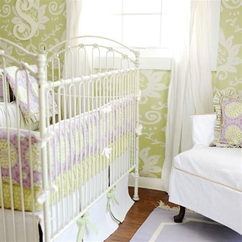 Lavender And Green Crib Bedding Purple And Green Crib Bedding Transitional Nursery New Arrivals Inc