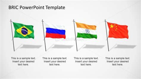 BRIC Flags PowerPoint Template   SlideModel