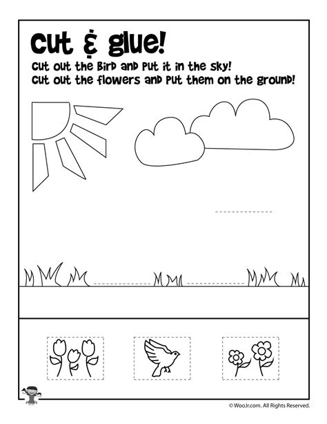 summer cut and paste worksheets preschool worksheets cut and paste livinghealthybulletin