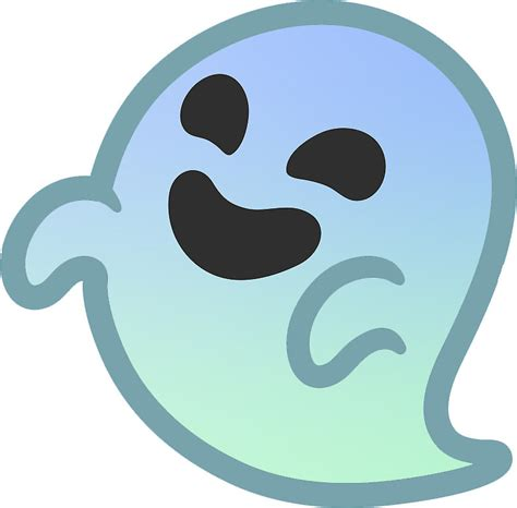 emoji ghost quot gradient android ghost emoji quot stickers by baiiley redbubble