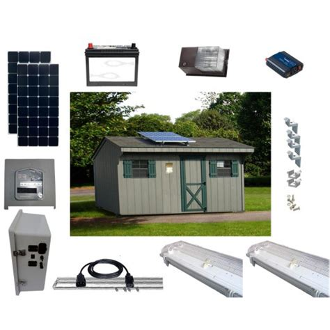 solar led shed lighting and power kits sun in one