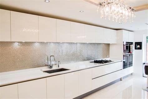 contemporary glass splashback kitchen kitchens kitchen quot premium silver quot glass kitchen splashback modern