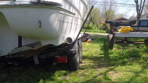 how to make boat trailer guides making guides on boat trailer youtube