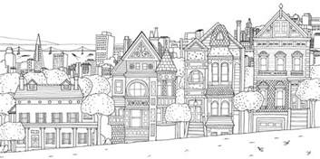 architecture living coloring pages adults coloring san franscico houses
