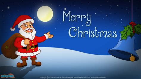 merry christmas santa claus desktop wallpapers  kids mocomi