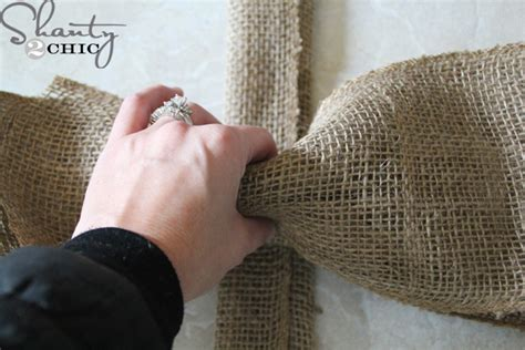how to make a burlap bow tree topper easy diy tree topper shanty 2 chic