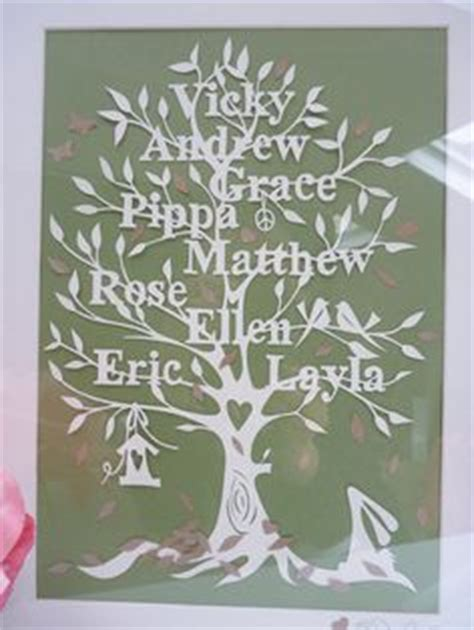 How To Make A Family Tree On Paper For - diy family tree papercutting template papercut your own