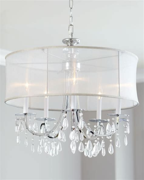 Black Shaded Chandelier Hampton 5 Light Chrome Chandelier With Crystal And Silver