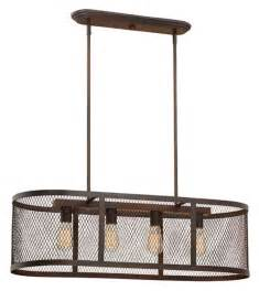Drum Shade Island Lighting Akron Brushed Bronze Island Light Mesh Drum Shade 36 Quot Lx47 Quot H