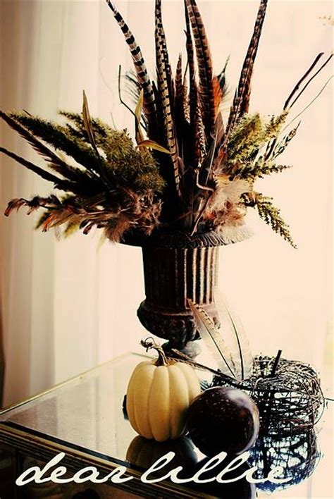 fall centerpieces with feathers 145 best images about mantel decor on pinterest fall