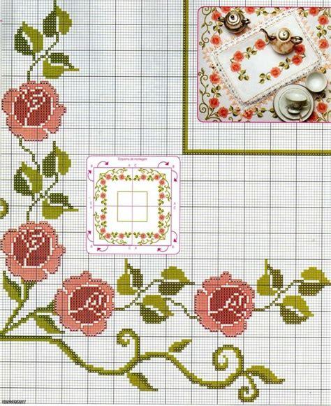 punto de cruz imagenes esquemas graficos y patrones punto de cruz manteles foto 9 12 ella hoy