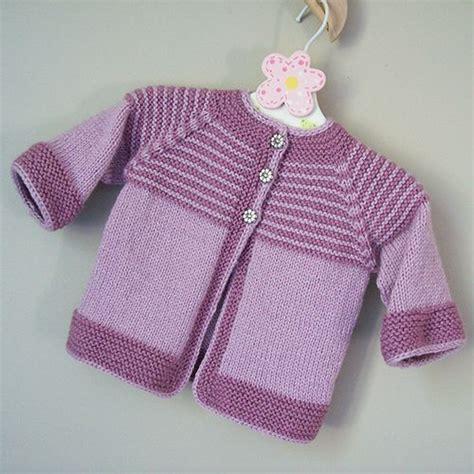 yoke knitting pattern garter yoke baby cardigan free knitting pattern pinteres