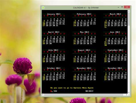 Ccp Calendar Freeware C Cpp Calendar At Collection