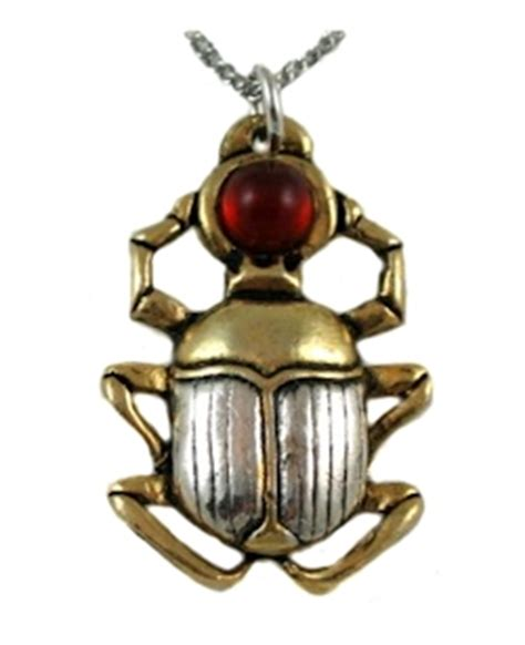 amulet pendant egyptian scarab  courage protection