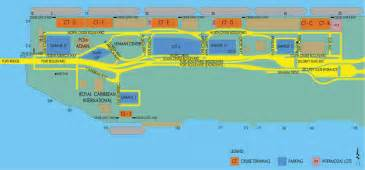 port of miami map map of cruise port of miami