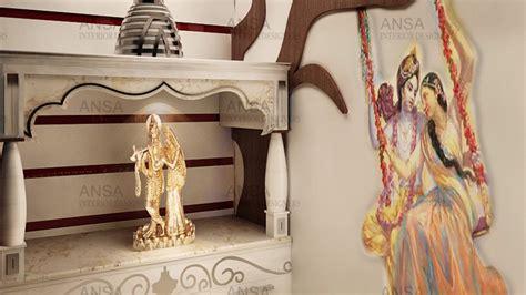 mandir design  home ansa interior designers youtube