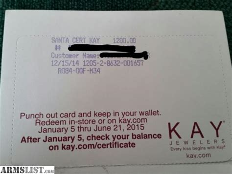 Kay Jewelers Gift Card - armslist for sale 1200 gift card to kay jewelers