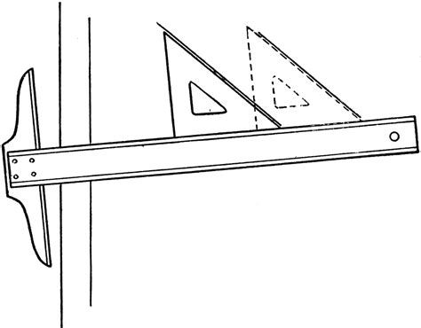 Drawing T Square by Drawing Parallel Lines Using T Square And Triangle