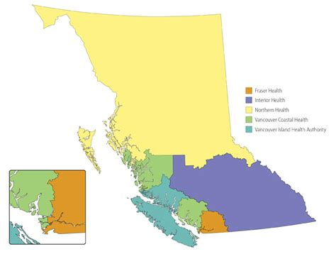 Find Bc Regional Health Authorities Province Of Columbia
