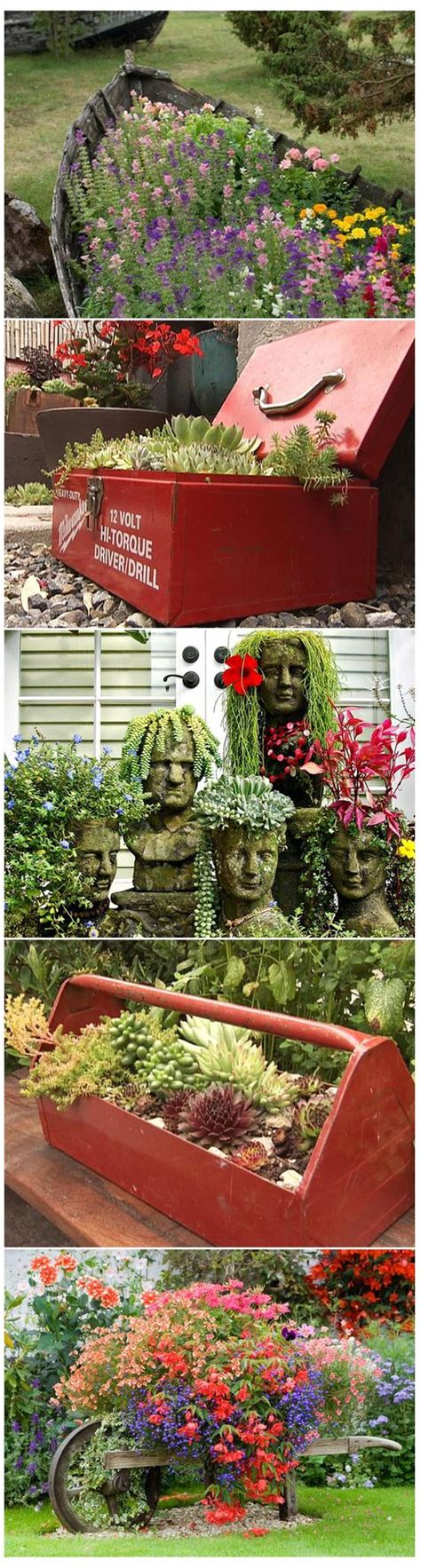 Upcycled Garden Ideas 13 And Upcycled Container Gardens Gardens The And Tool Box