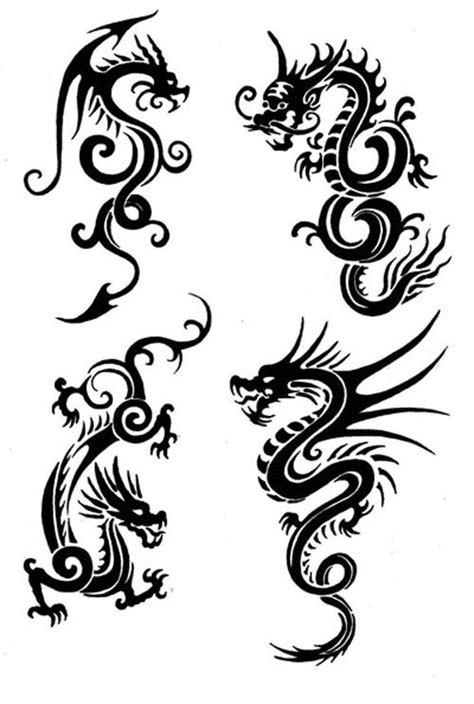 simple asian tattoo design tribal chinese dragon tattoos would make lovely patterns