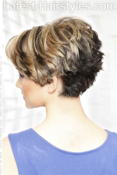 front and back views of chopped hair short hairstyles showing back view archives best haircut