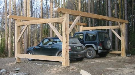 Timber Car Port by Timber Frame Carport Barns And Sheds Woods Carport Designs And Interiors