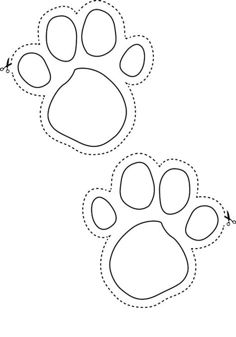Coloring Animal Footprints: Free animal tracks coloring pages.