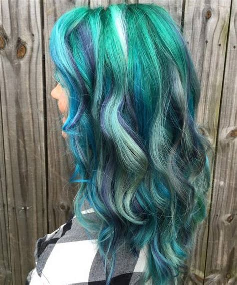 hairstyles with teal highlights 20 fresh teal hair color ideas for blondes and brunettes