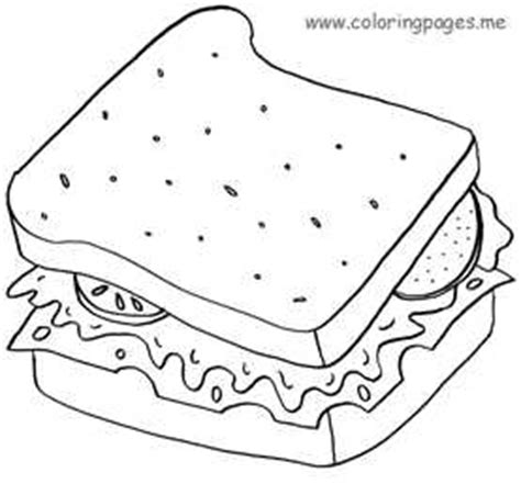 peanut butter and jelly sandwich free coloring pages