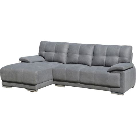 Gray Sectional Sofa With Chaise Lounge Jacob Contemporary Tufted Stitch Sectional Sofa With Left Facing Chaise Grey S0069l 2pc The