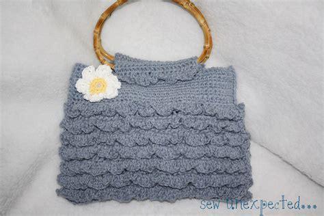 crochet ruffle bag pattern crochet ruffle purse on luulla