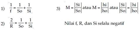 Cermin Cembung Besar rumus rumus yang berlaku pada cermin cembung fisika zone