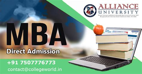 Mba Marketing In Bangalore For Experienced by Alliance Bangalore Direct Admission Process For
